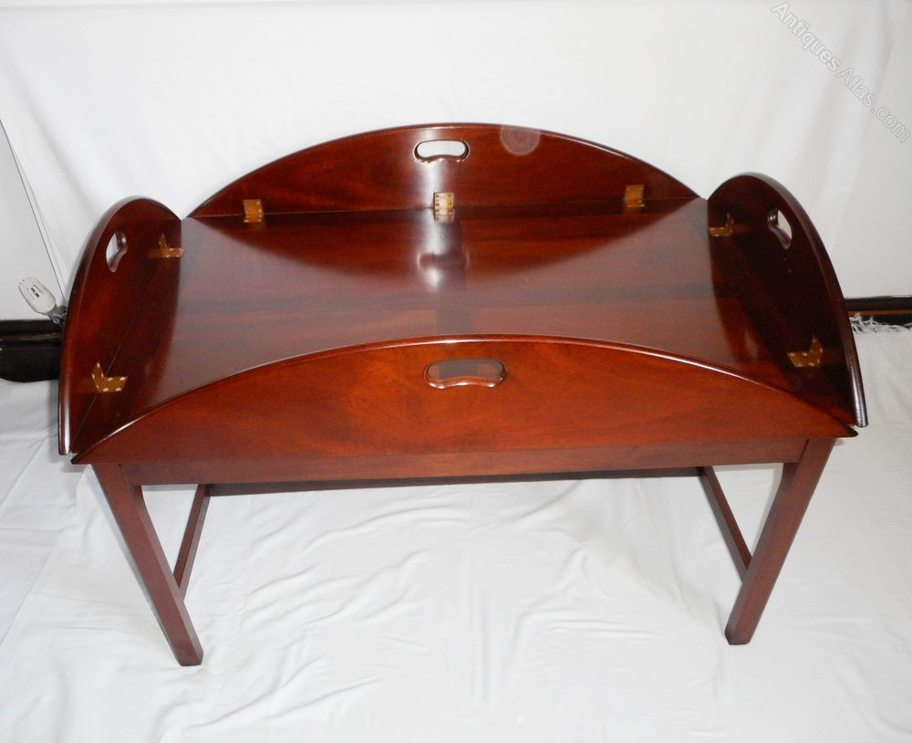 Antiques Atlas Mahogany Butlers Tray Topped Coffee Table