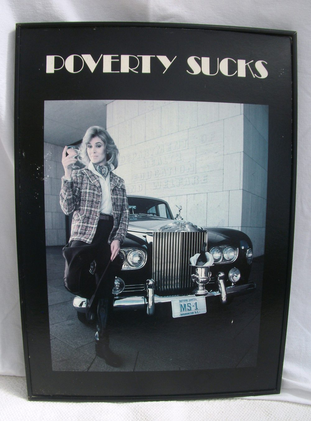 Rolls Royce Dealers >> Antiques Atlas - Vintage Poverty Sucks Poster
