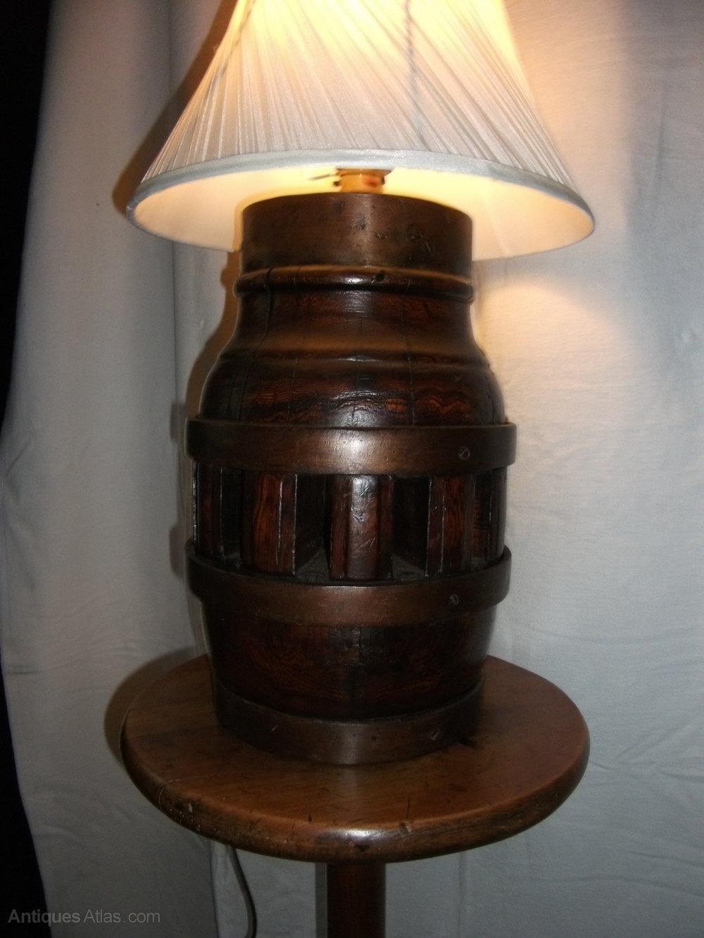 Antiques Atlas - Antique Wagon Wheel Hub Lamp
