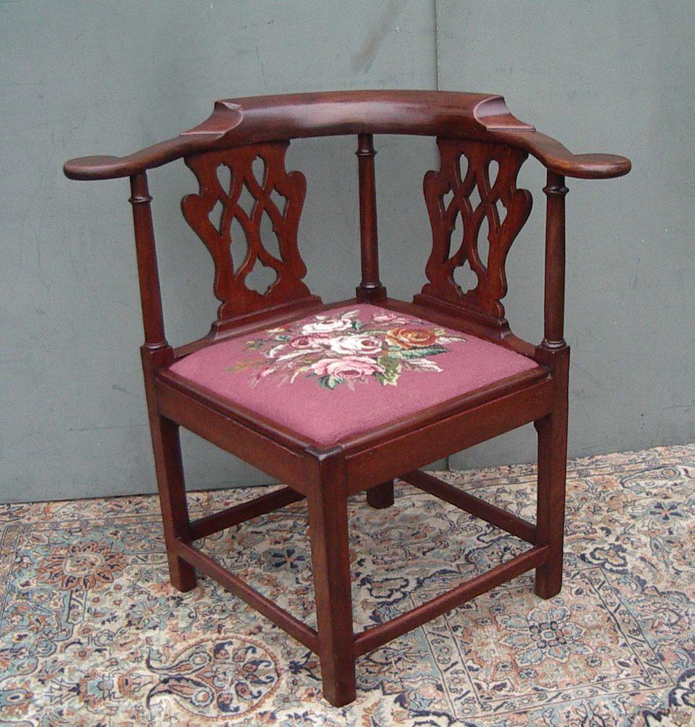 18thcentury georgian corner chair antiques atlas
