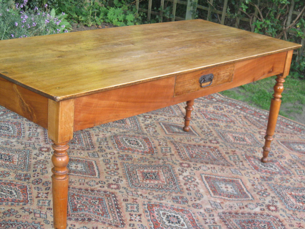 19th C Fruitwood Farmhouse Table C1880 Antiques Atlas