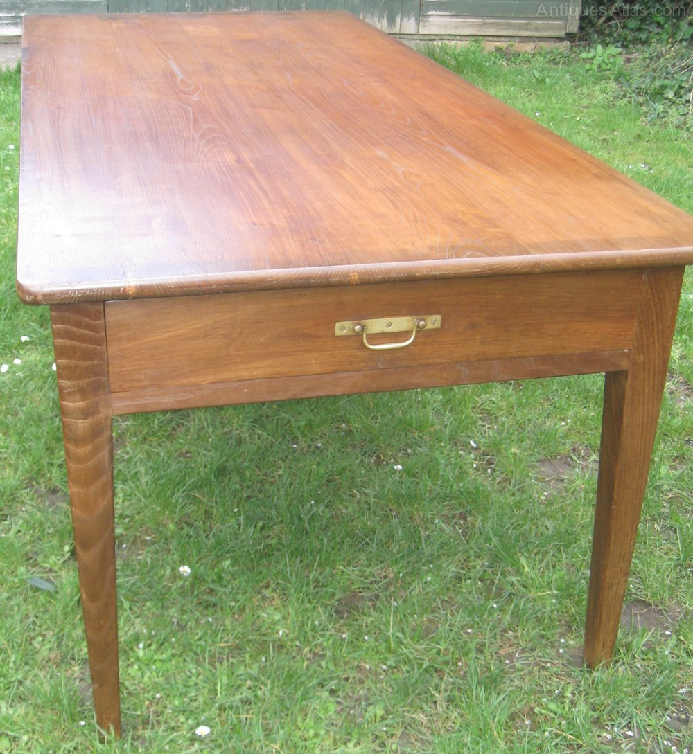 Antique Elm Farmhouse Table Antiques Atlas