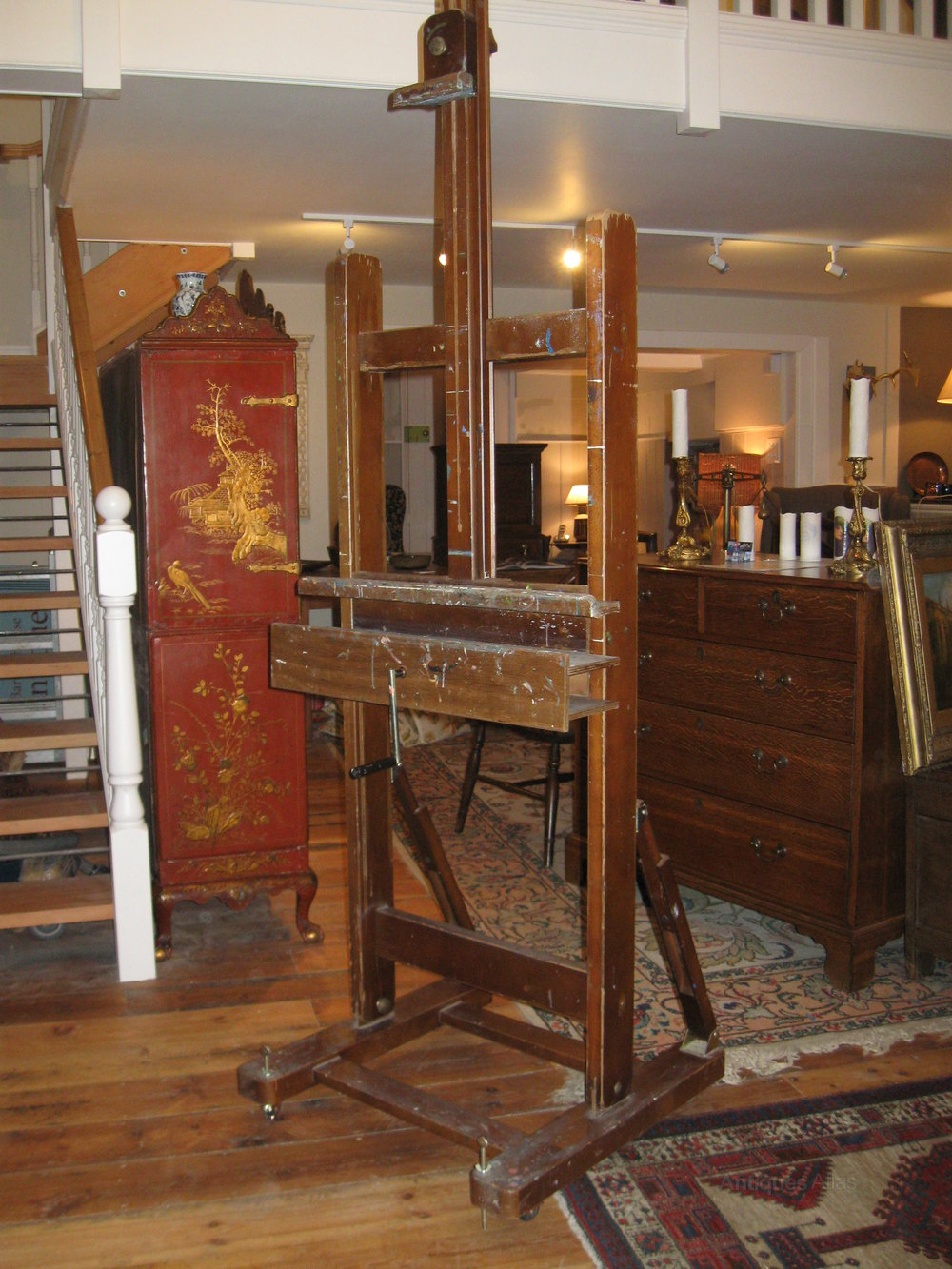 Large Adjustable Artists Easel Antiques Atlas
