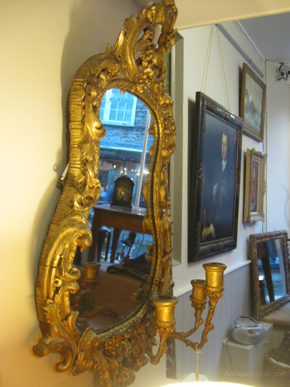 antiques atlas victorian triple light girondale mirror. Black Bedroom Furniture Sets. Home Design Ideas