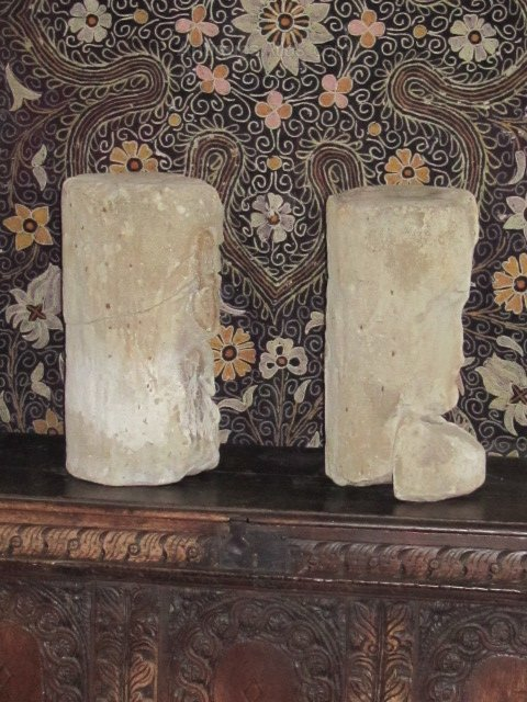 Antiques atlas pair of early stone carved heads