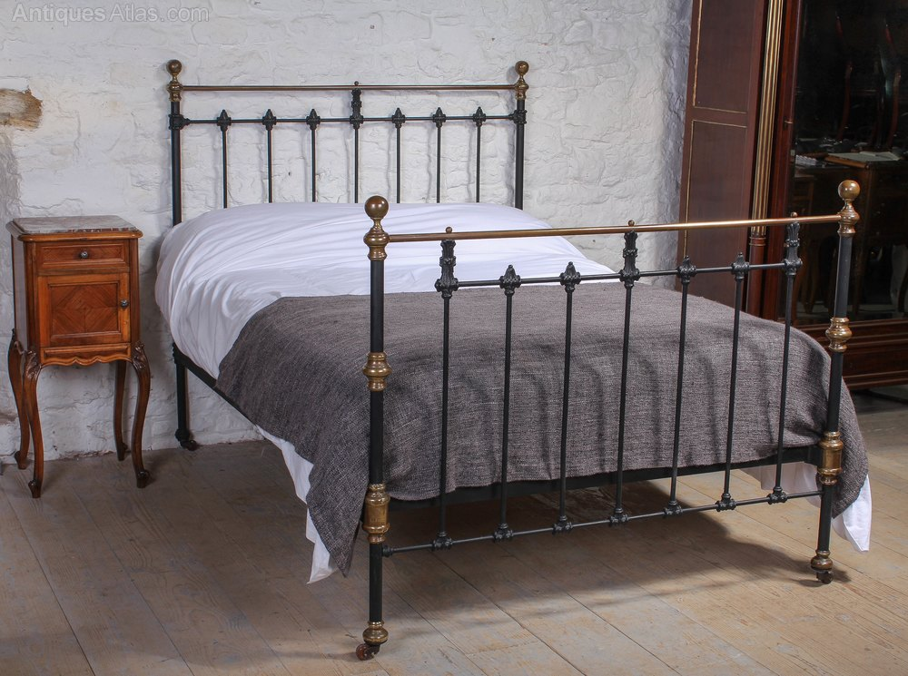 Original Victorian Brass Beds : All original classic victorian black and brass bed