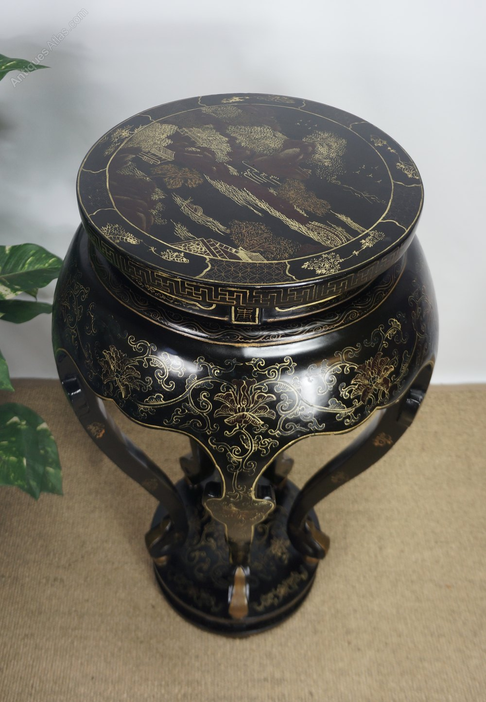 art deco chinoiserie jardiniere plant stand antiques atlas. Black Bedroom Furniture Sets. Home Design Ideas