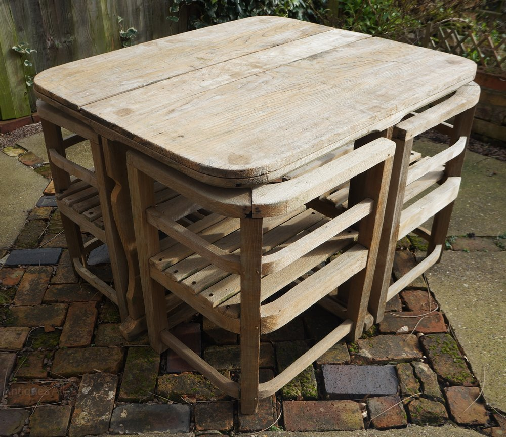 Antiques Atlas Heals C1930s Teak Garden Table Amp Chairs