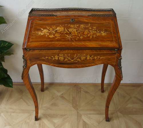 antique white french writing desk ladies country - French Writing Desk – Glorema.com
