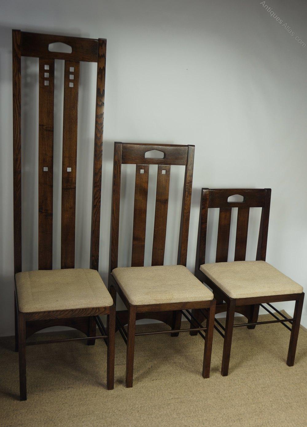 Antiques Atlas Three Charles Rennie Mackintosh Ingram Chairs