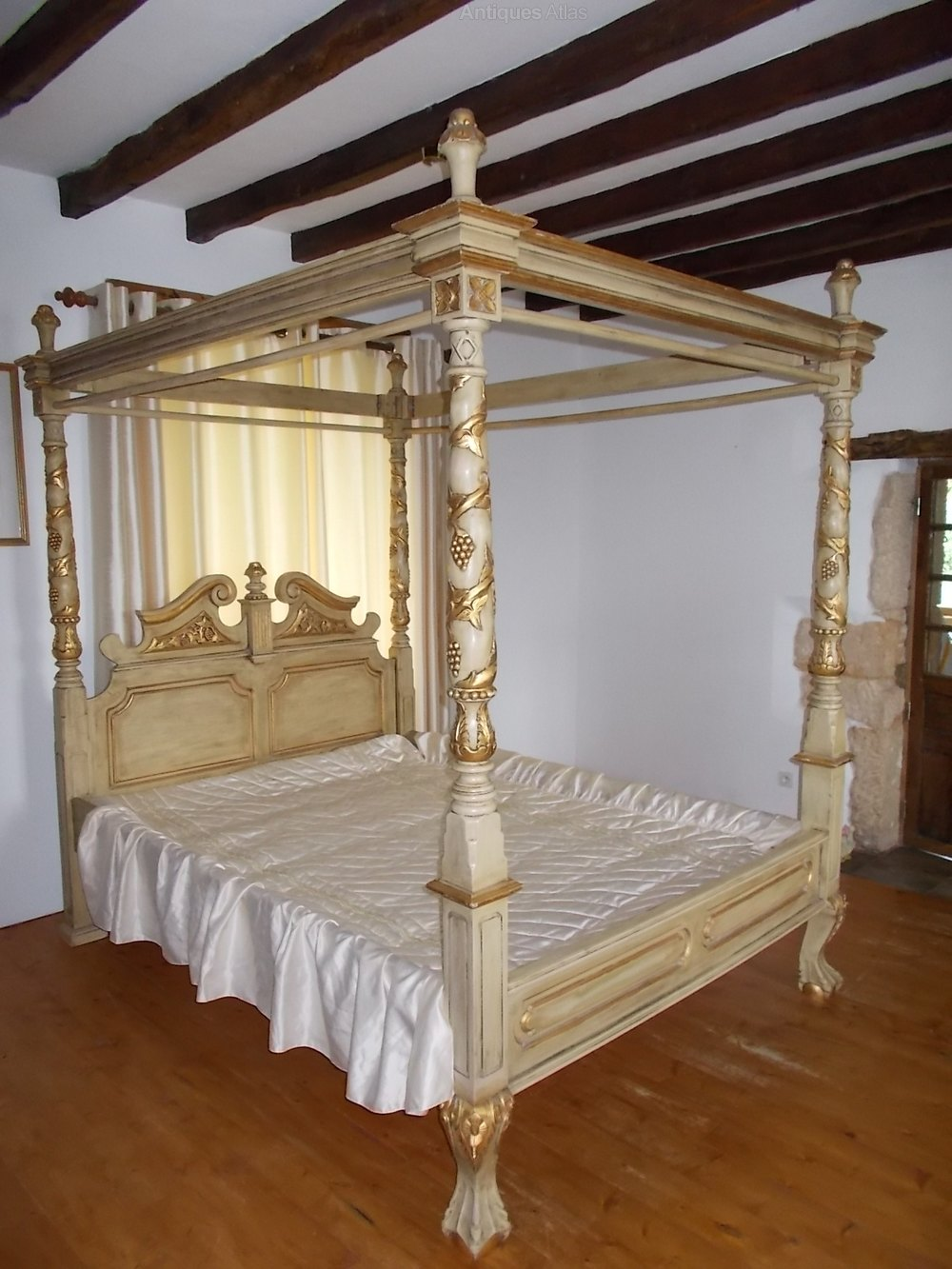 Good Stunning Large Mahogany ft Four Poster Bed