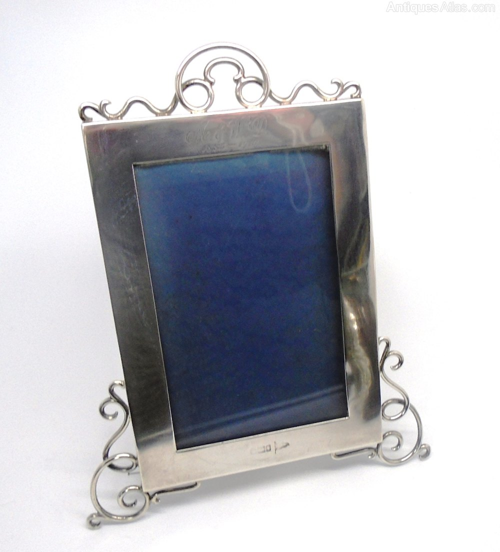 Antiques Atlas - Antique Solid Silver Photo Frame 1910