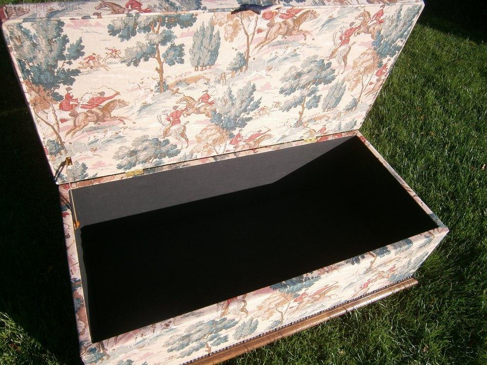 Ottoman Upholstered Blanket Box Antiques Atlas