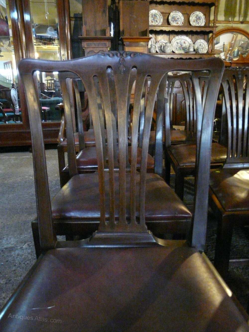 8 Mahogany Dining Chairs Antiques Atlas