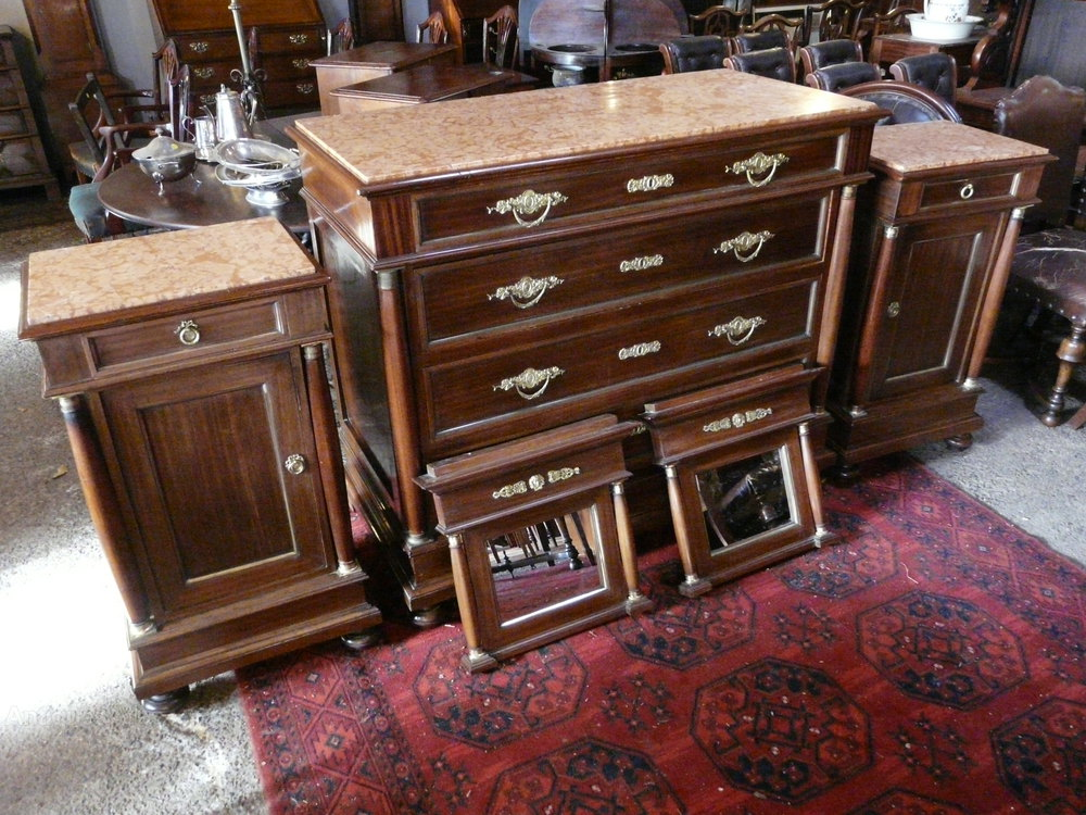 superb french empire mahogany bedroom suite antiques atlas