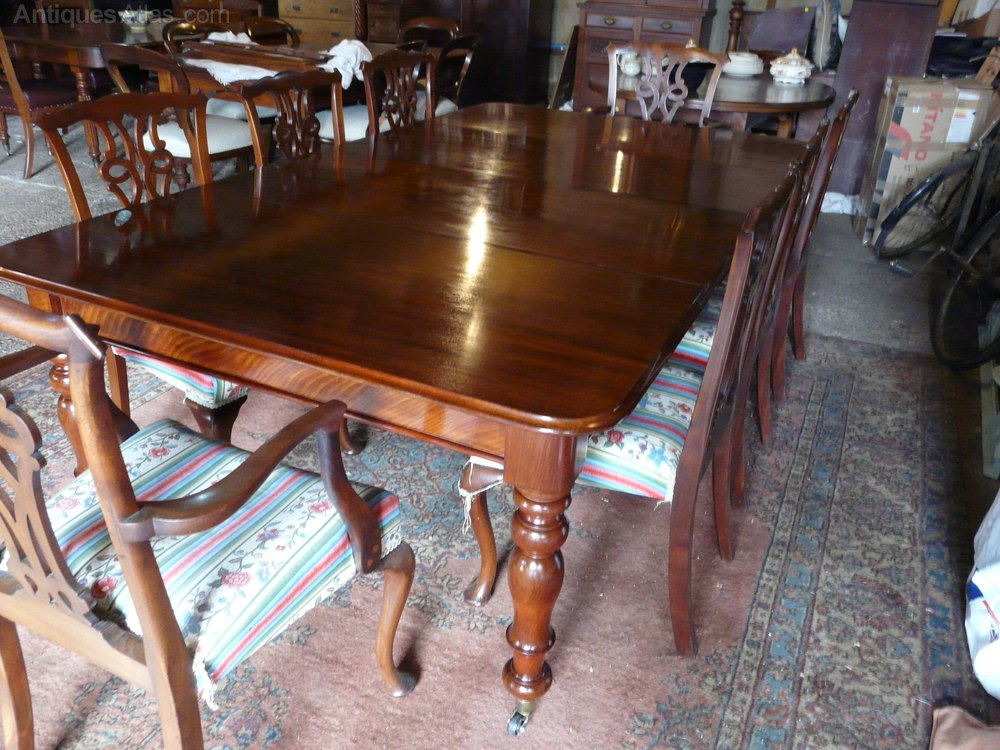Victorian mahogany 8 seater dining table antiques atlas for 8 seater dining table