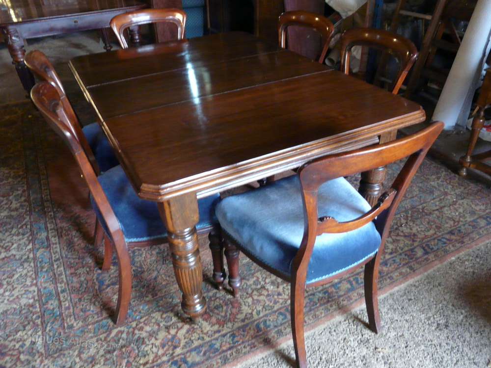 Walnut 6 seater dining table antiques atlas for 6 seater dining table