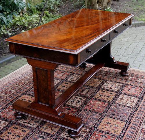 antique table william 1v mahogany table desk - Mahogany Desk