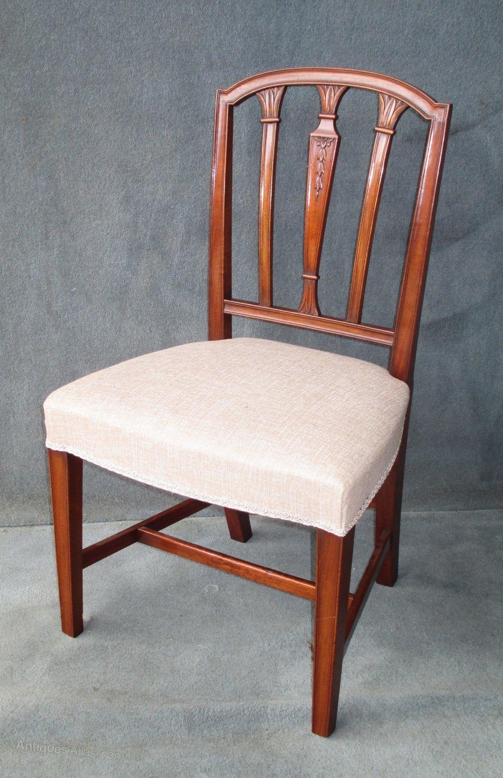 A Set Of 6 + 2 Mahogany Sheraton Style Chairs - Antiques Atlas