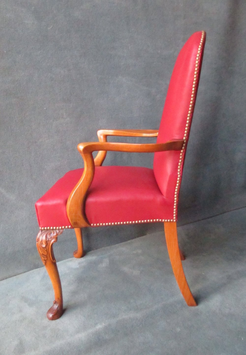 Cabriole Leg Desk Arm Chair In Mahogany Antiques Atlas
