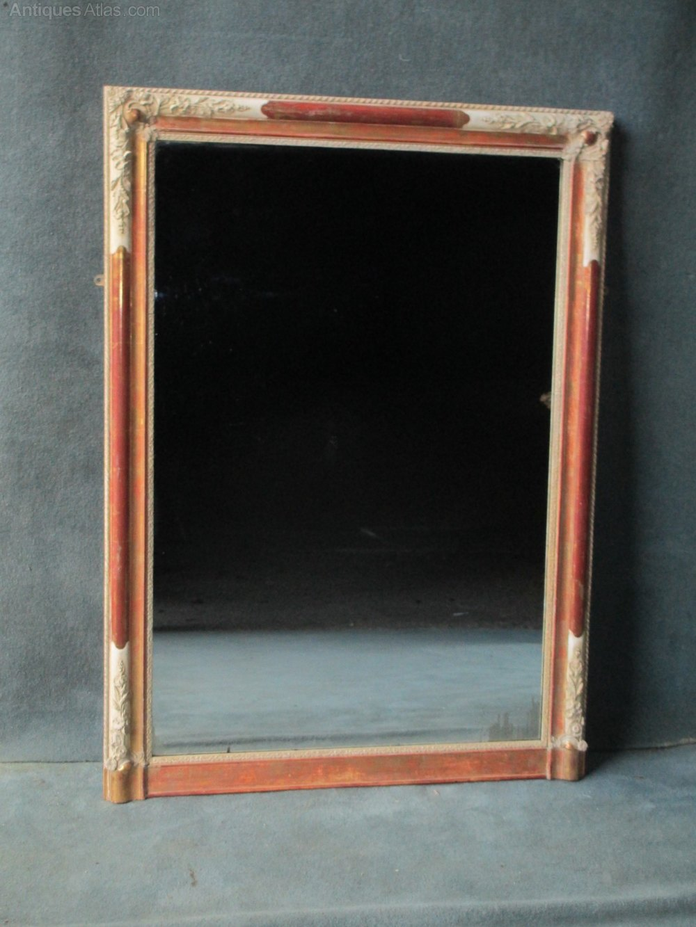 Antiques atlas french portrait overmantle mirror a250 for Overmantle mirror