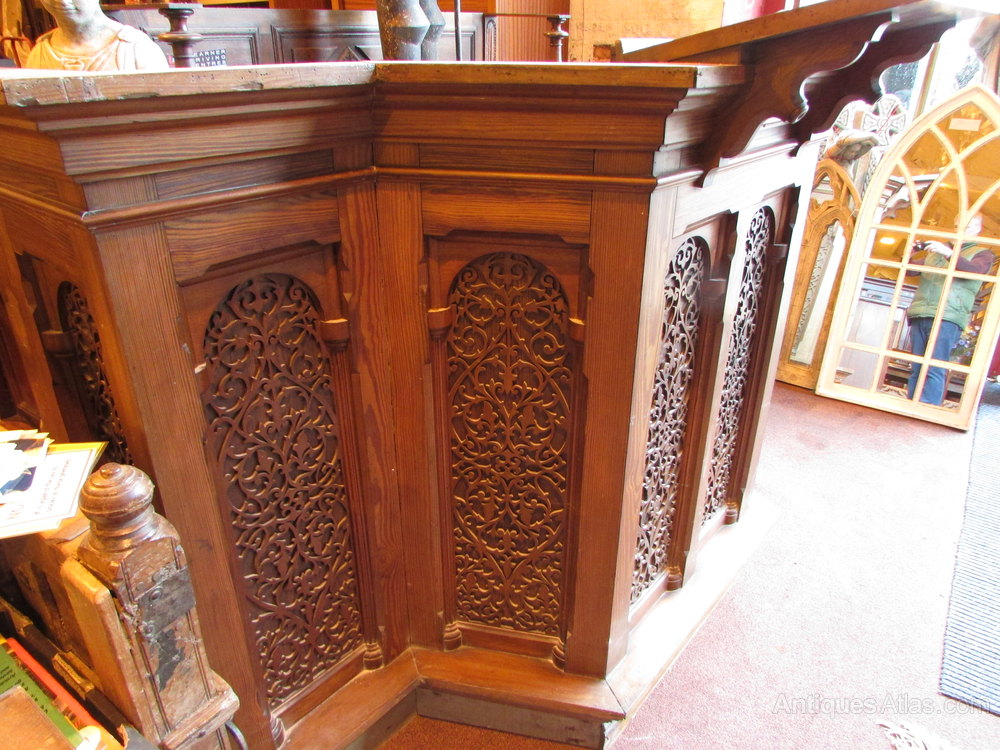 Antiques atlas a stunning pitch pine pulpit for Architecture antique