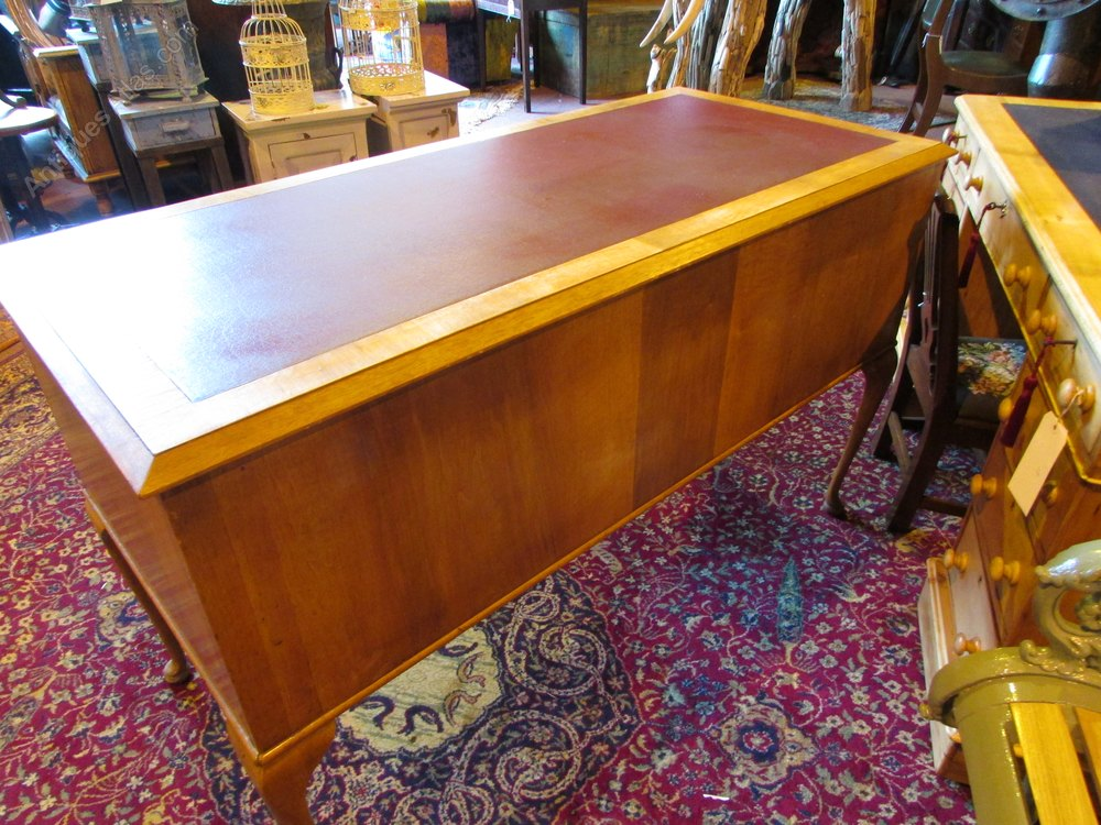 Antiques Atlas Queen Anne Style Leather Top Desk