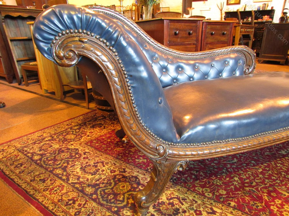 Victorian walnut chaise lounge antiques atlas for Antique chaise lounge prices