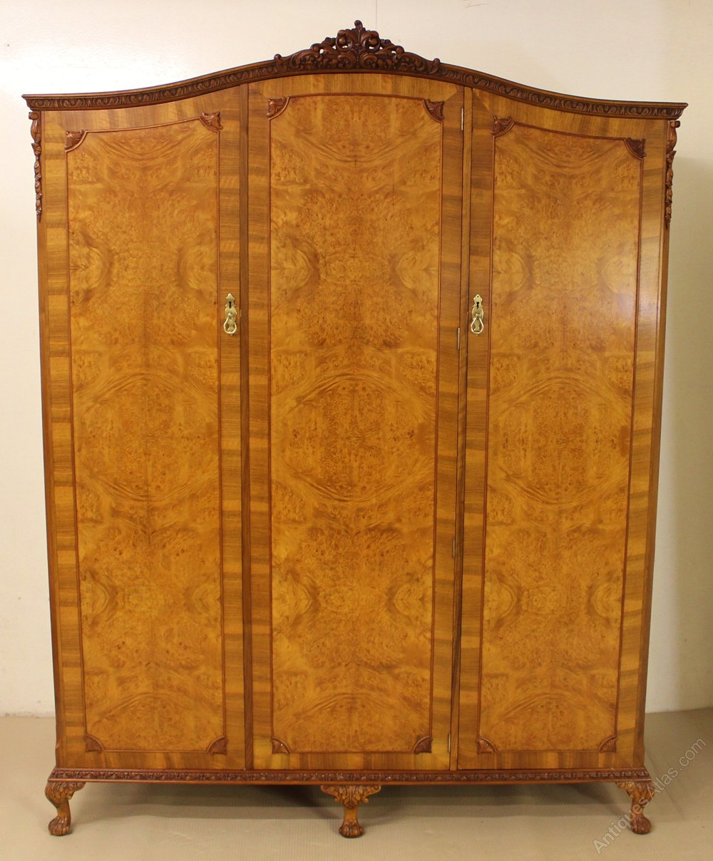 Burr Walnut 6 Piece Queen Anne Bedroom Suite Antiques Atlas