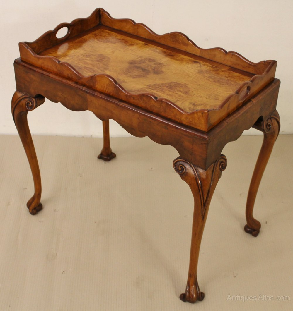 Burr Walnut Tray Top Coffee Table Antiques Atlas