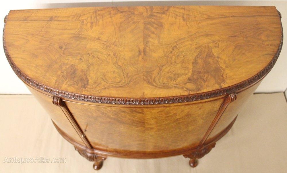 DemiLune Burr Walnut Commode  Antiques Atlas