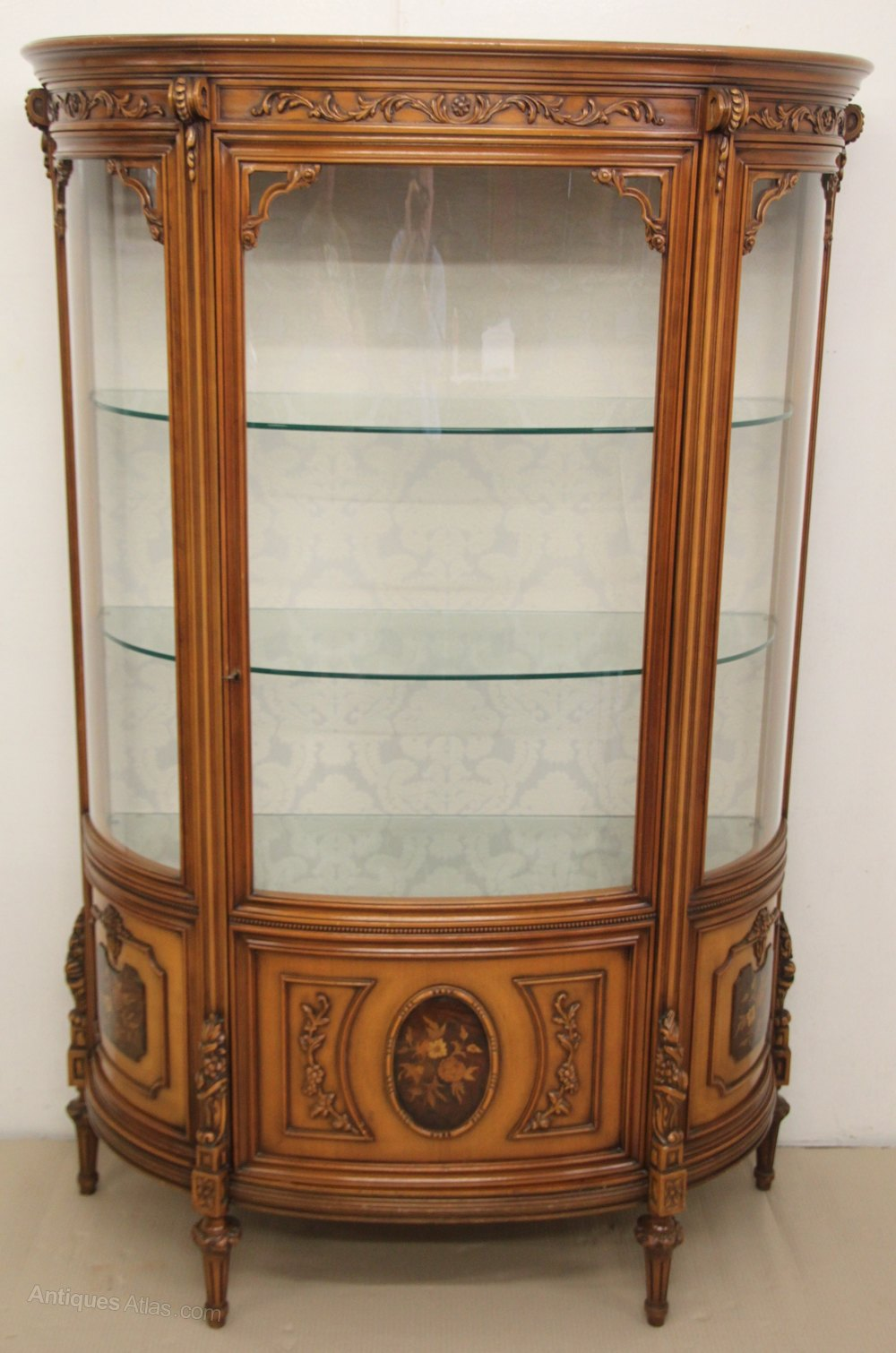 antiques atlas french marquetry vitrine. Black Bedroom Furniture Sets. Home Design Ideas