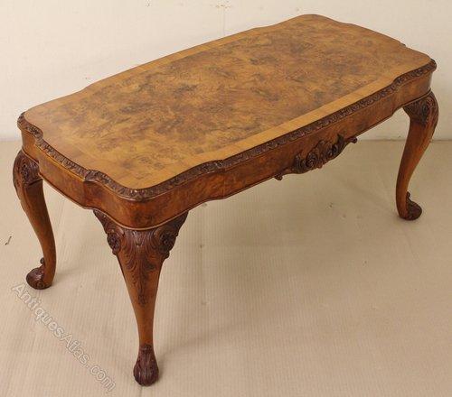 Good Quality Burr Walnut Coffee Table Antiques Atlas