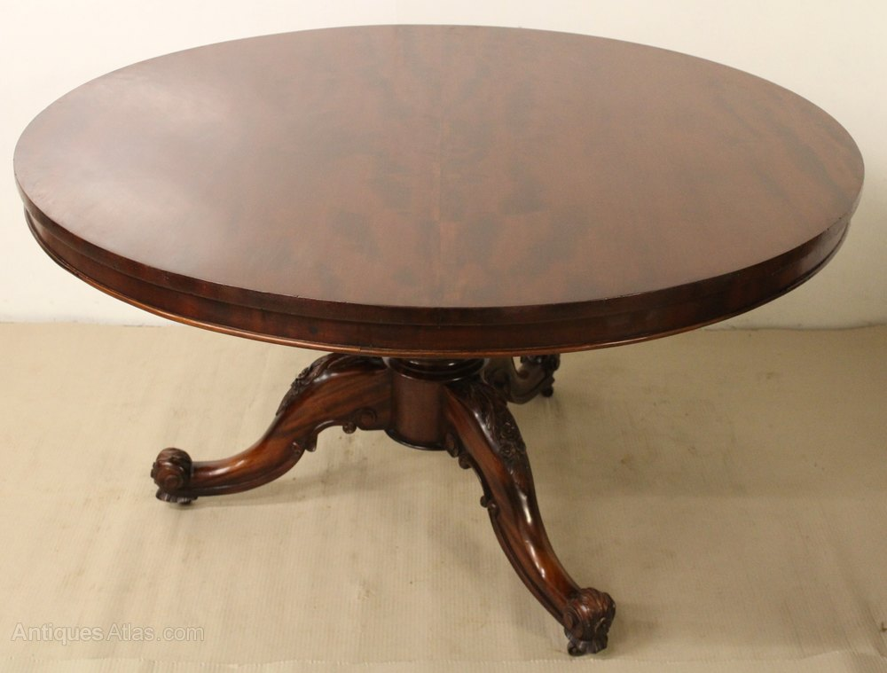 Large round victorian dining table antiques atlas for Large round dining table