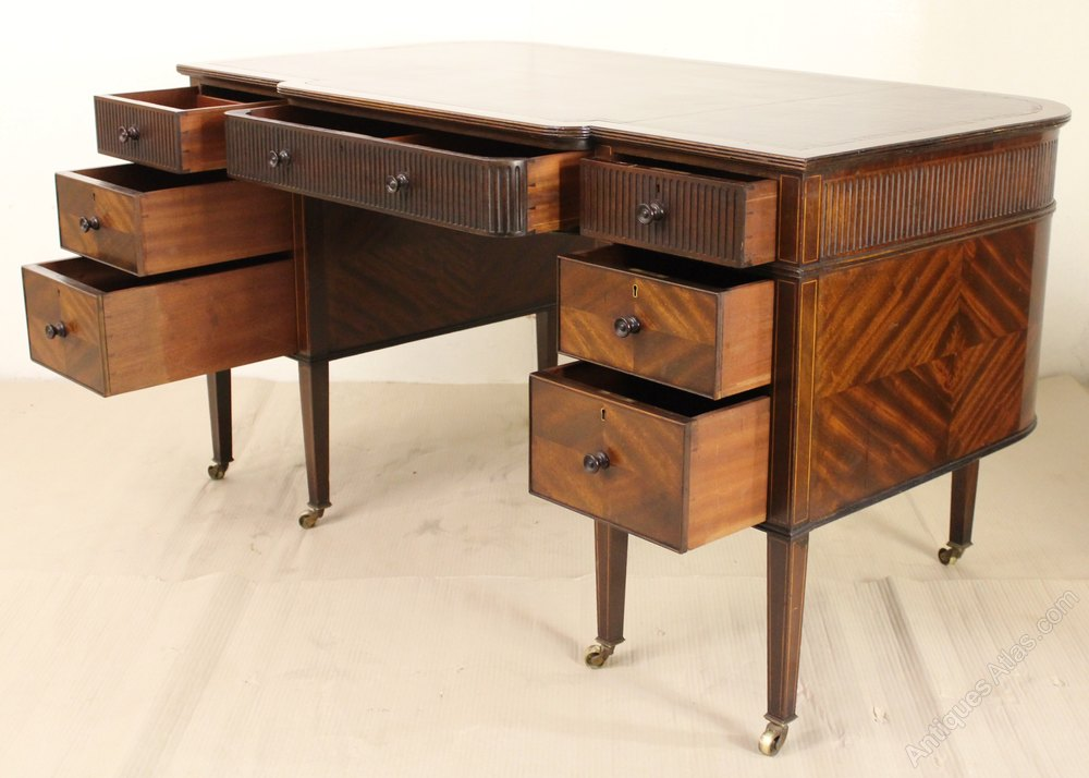 Mahogany Writing Desk ~ Mahogany writing desk by maple and co antiques atlas