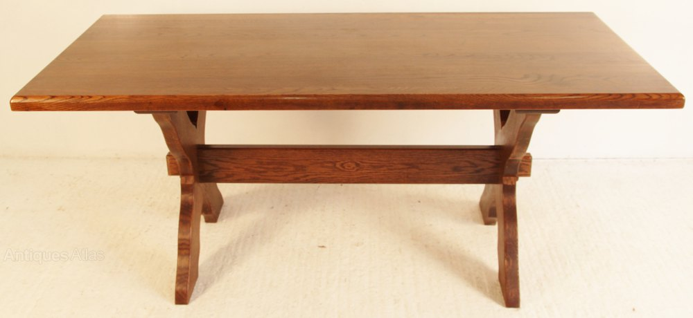 Oak Refectory Dining Table Antiques Atlas