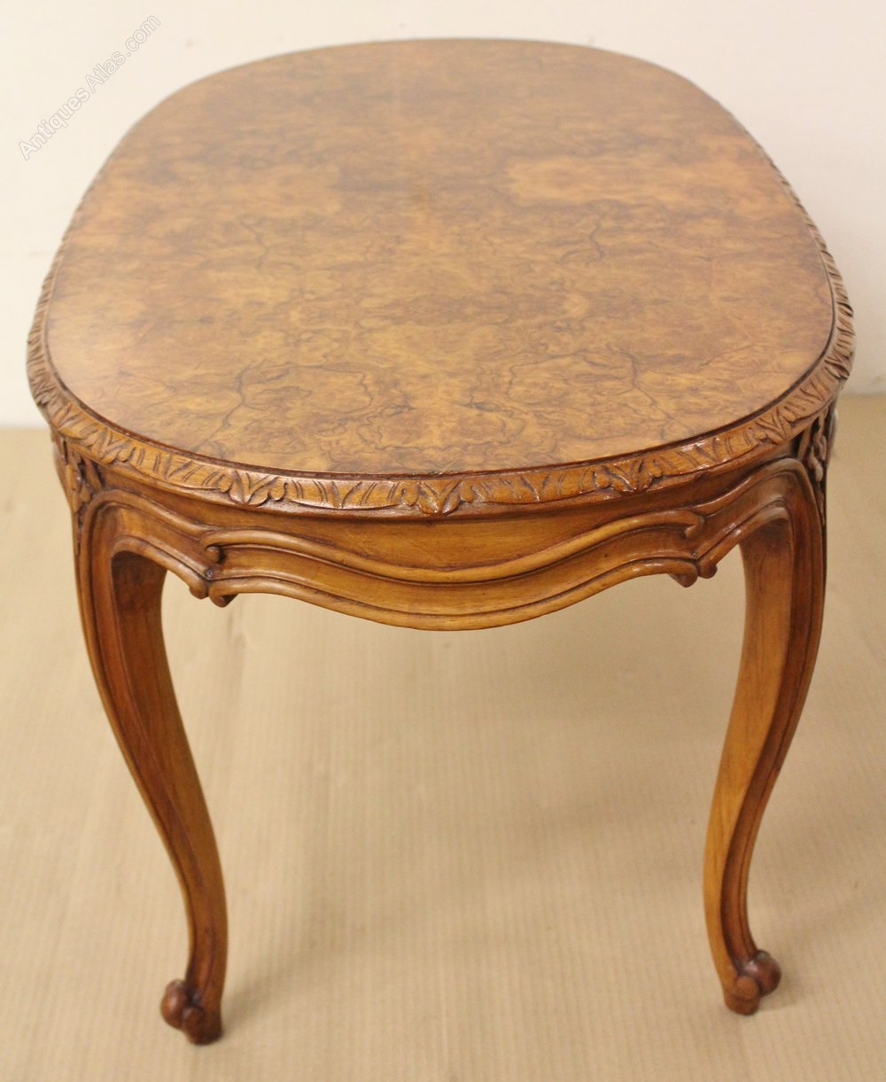 Walnut Oval Coffee Table Uk: Oval Burr Walnut Coffee Table