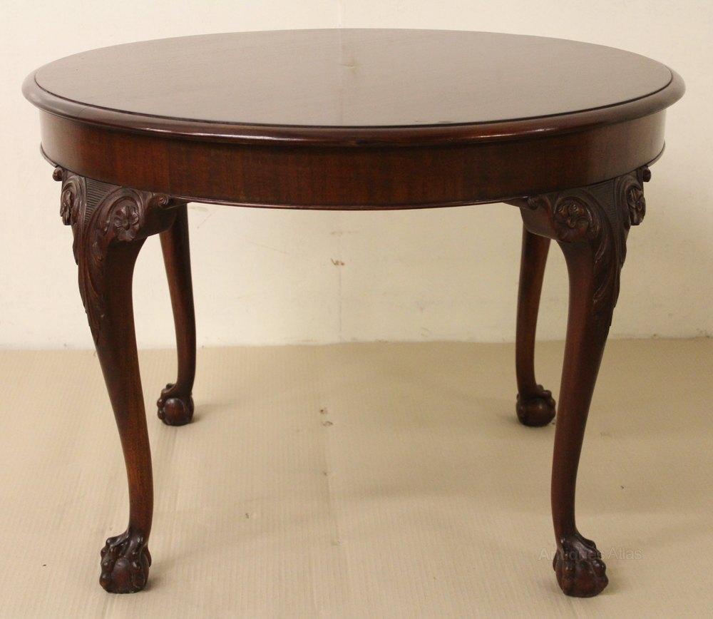Round Mahogany Coffee Table