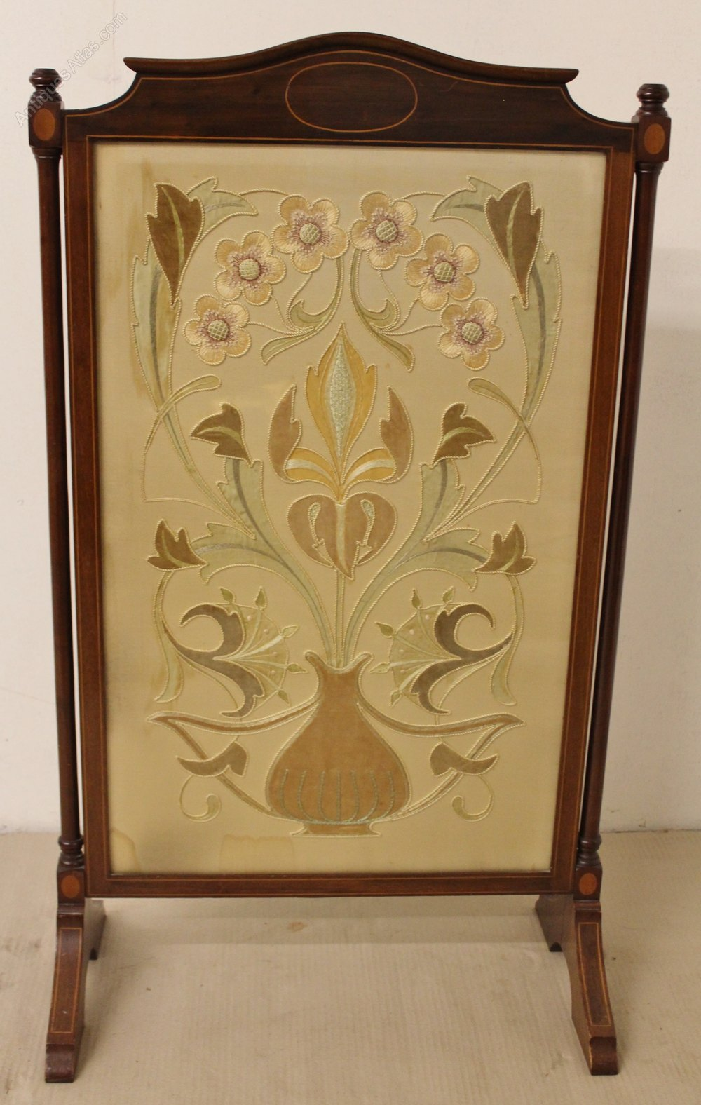 Antiques Atlas Victorian Mahogany Firescreen