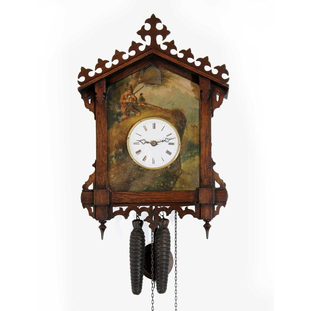 Antiques Atlas - 1860s Tinplate Cuckoo Clock