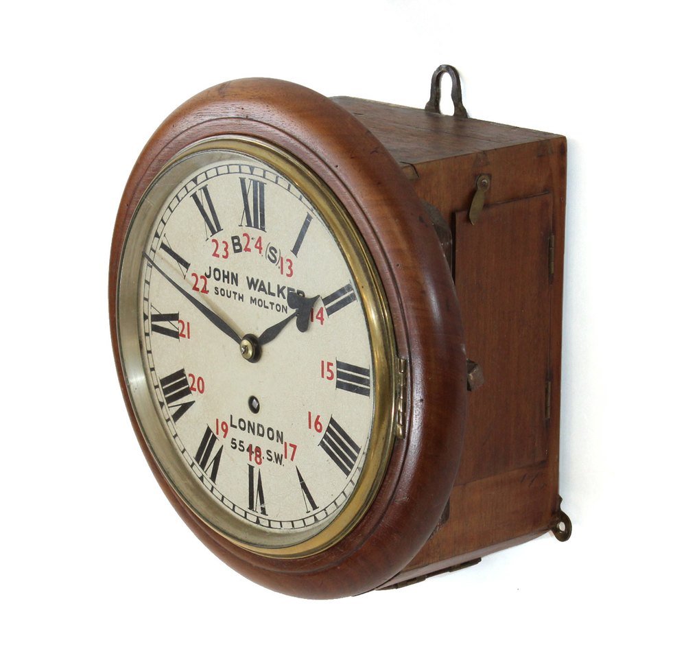 Antiques atlas 8 inch dial railway clock from effingham for Western wall clocks for sale