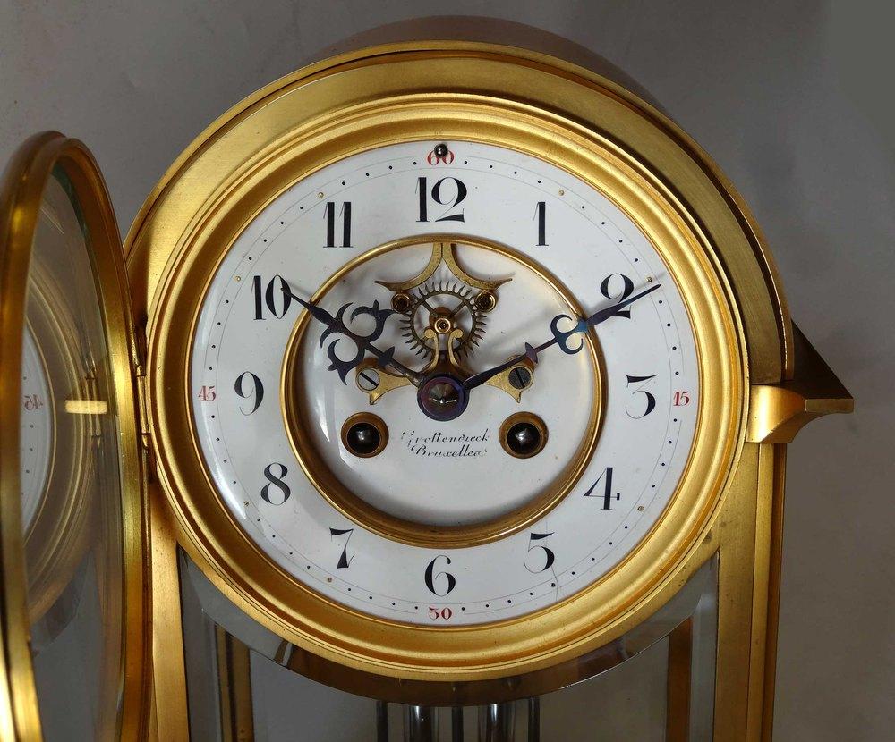 Antiques Atlas Arched Four Glass Mantel Clock Brussels