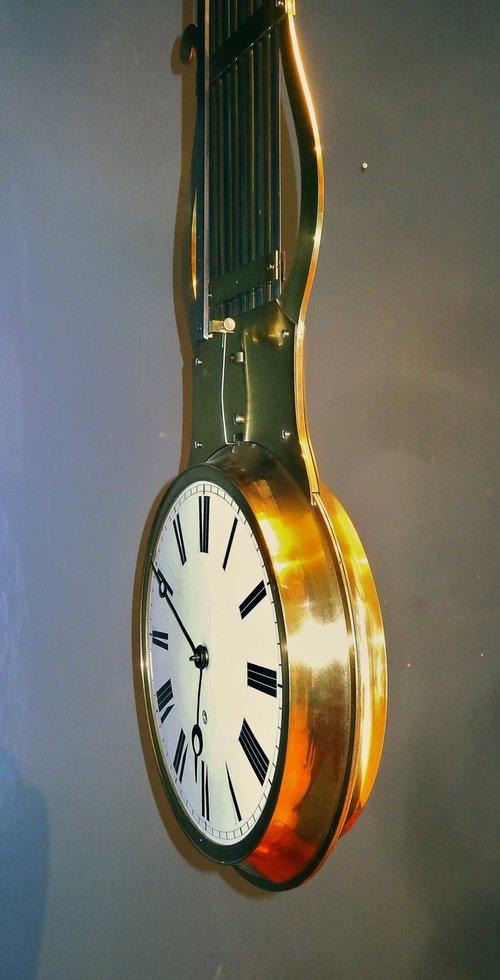Antiques Atlas Double Dial Swinging Pendulum Clock