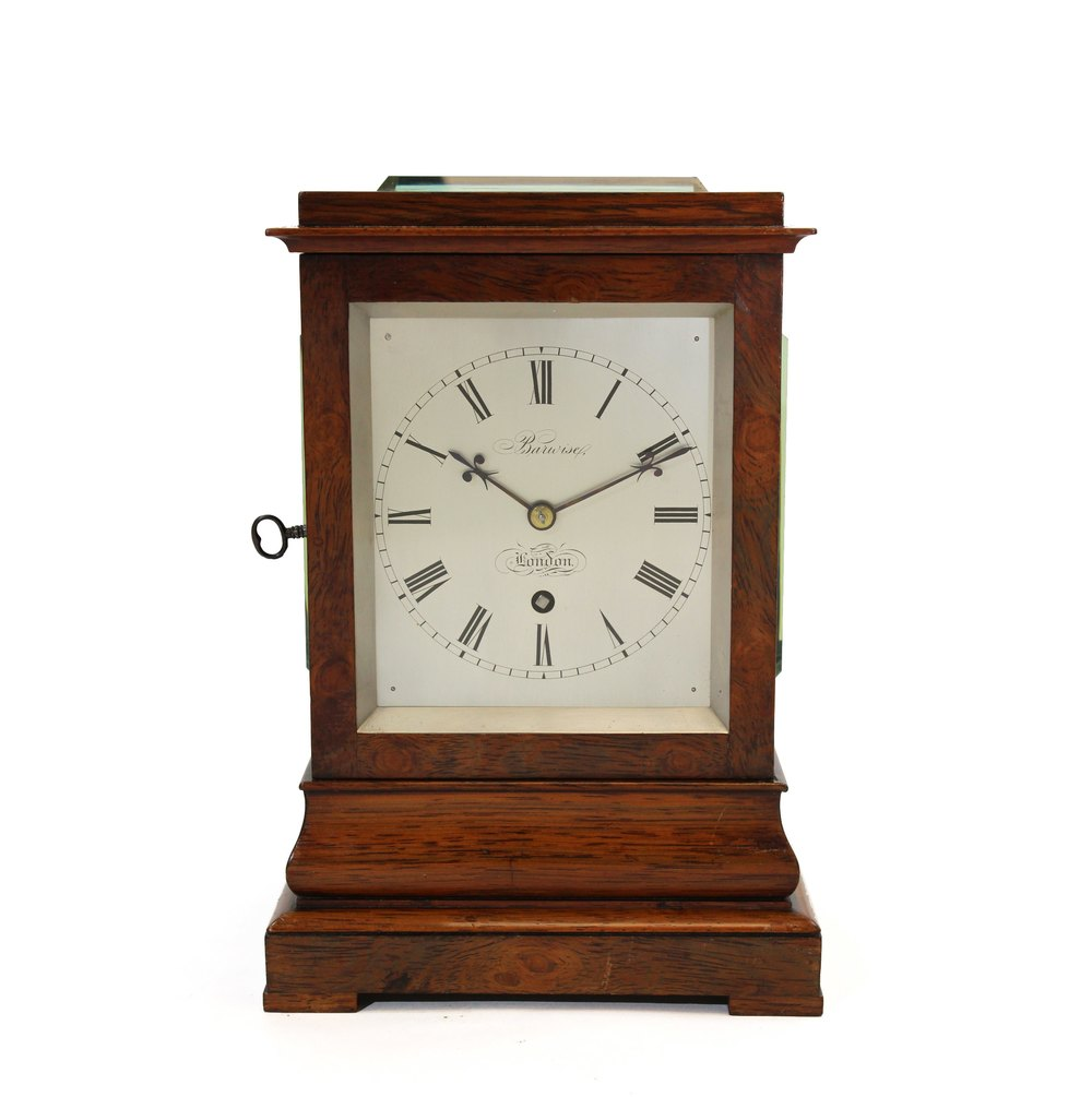 Antiques Atlas Rosewood Library Clock By Barwise London