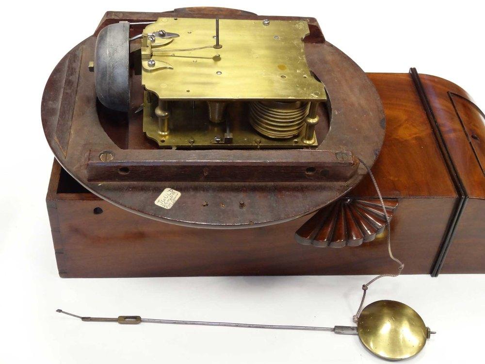 Antiques Atlas Twin Fusee Drop Dial Wall Clock