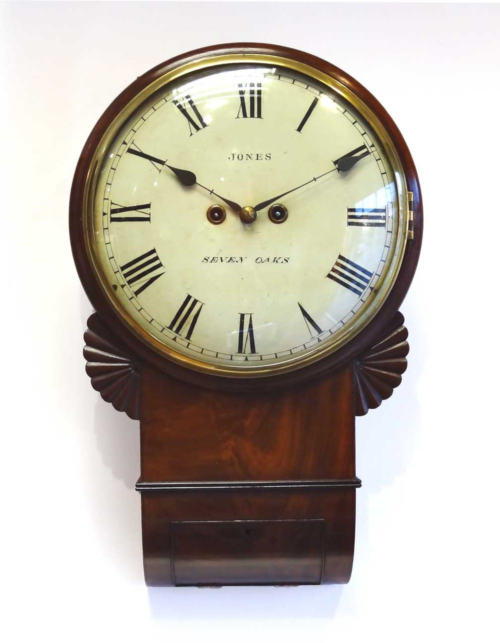 Antiques Atlas Twin Fusee Drop Dial Wall Clock