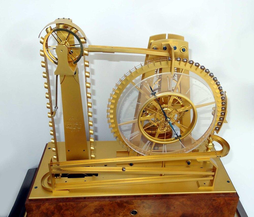 ball bearing clock. waterwheel ball bearing clock by peter bonnert antique mantel clocks m