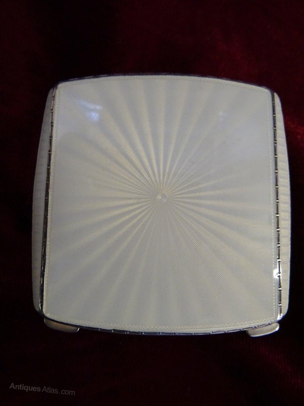 Antiques Atlas Art Deco Silver Amp Enamel Compact Case