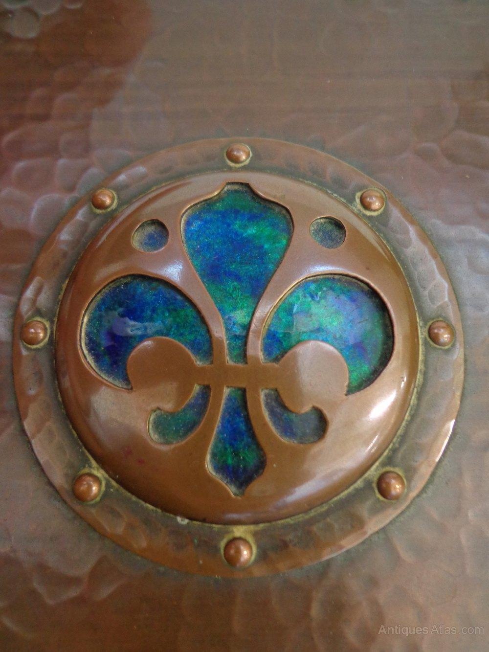 Antiques Atlas Arts Amp Crafts Copper Amp Enamel Box
