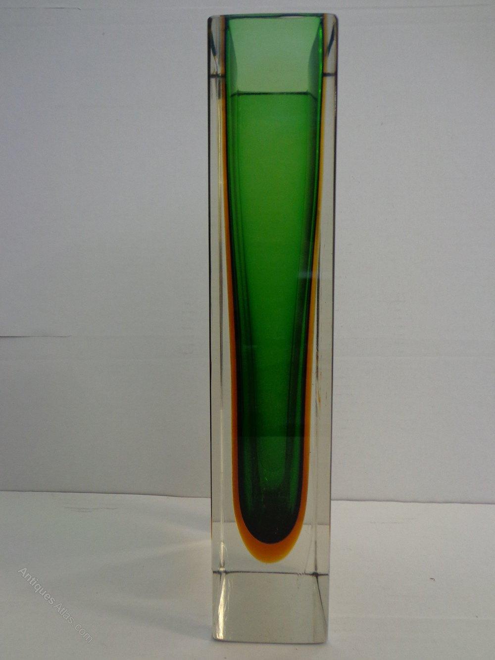 Antiques Atlas Murano Sommerso Glass Vase